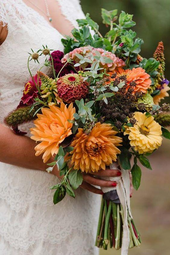 fiori autunnali dalia wedding - 15 fiori autunnali ideali per il tuo matrimonio