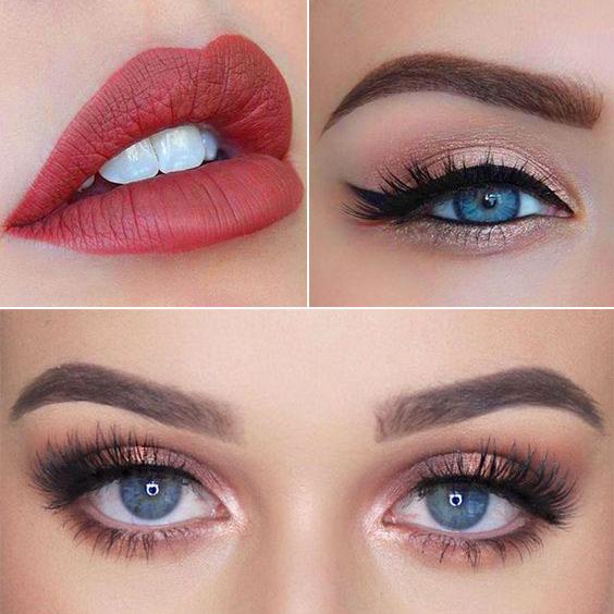 trucco sposa occhi azzurri romantico - Trucco sposa occhi azzurri